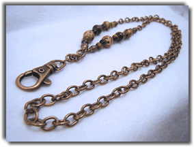 Mens Copper Lanyard