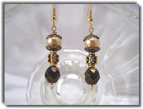Carmel and Cream Earrings